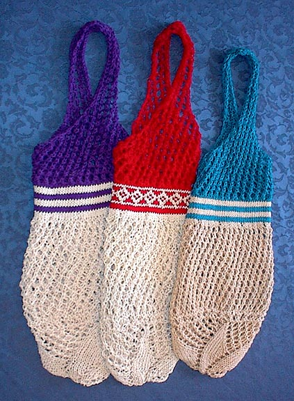 Knitting Pattern For A String Bag : Shopping